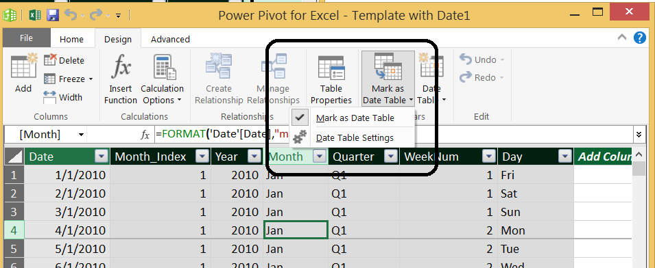 CALENDAR TABLE WITH DAX Part 4 – Info Trek's Blog