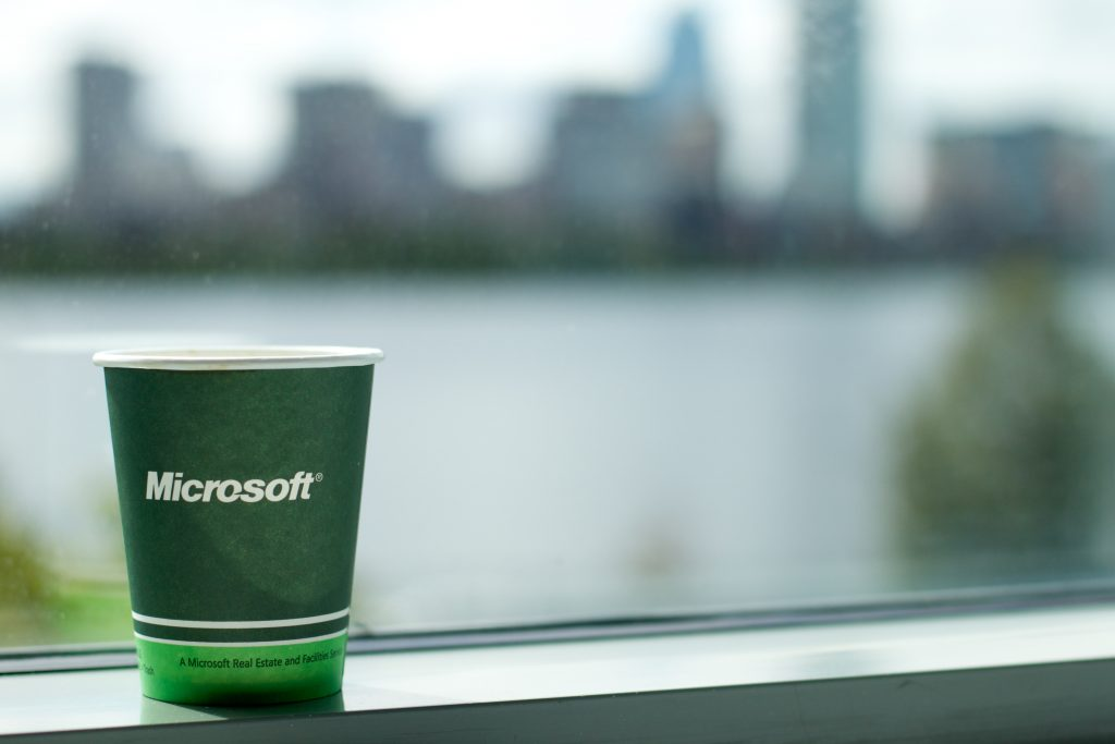 picture of a green Microsoft cup